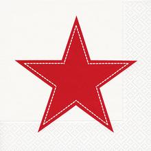 60836 SIMPLY STAR WHITE/RED 33X33 - Foto0